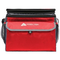 Ozark Trail 12 Can Soft Side Thermocooler with Hard Liner, Red