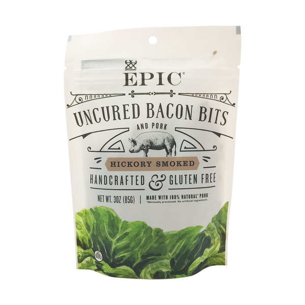 Epic Hickory Smoked Uncured Bacon Bits, 3 oz