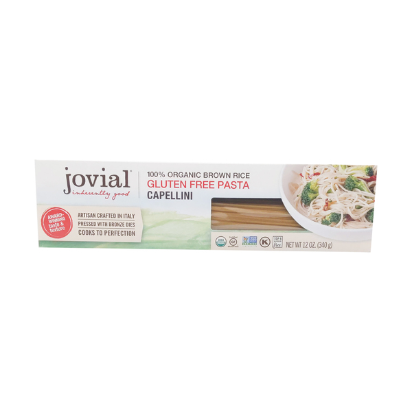 Jovial 100% Organic Whole Grain Capellin Brown Rice Pasta, 12 oz