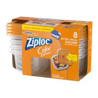 Ziploc Color Edition Extra Small Square Containers & Lids - 8 CT