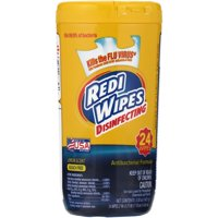 Redi Wipes™ Disinfecting Antibacterial Formula Lemon Scent Wipes 24 ct Plastic Jar