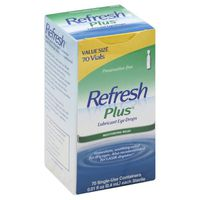 Refresh Eye Drops, Lubricant, Vials, Value Size