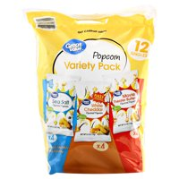 Great Value Popcorn Variety Pack, 6 Oz., 12 Count