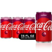Cherry Coke Mini Cans Soda, 7.5 Fl Oz, 6 Count