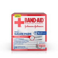 Band-Aid Brand Cushion Care Gauze Pads, Small, 2 in x 2 in, 25 ct