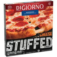 DiGiorno Cheese Stuffed Crust Pepperoni Frozen Pizza Box – Quick and Easy Pizza with Fresh Baked Taste. Fresh Baked Aroma.