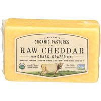 Organic Pastures Cheese, Raw Cheddar