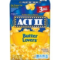 ACT II Butter Lovers Microwave Popcorn, 2.75 Oz, 3 Ct