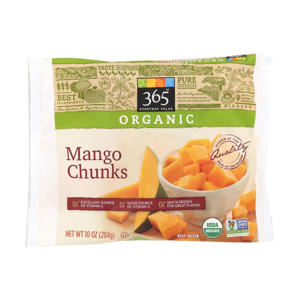 365 everyday value® Organic Mango Chunks, 10 oz