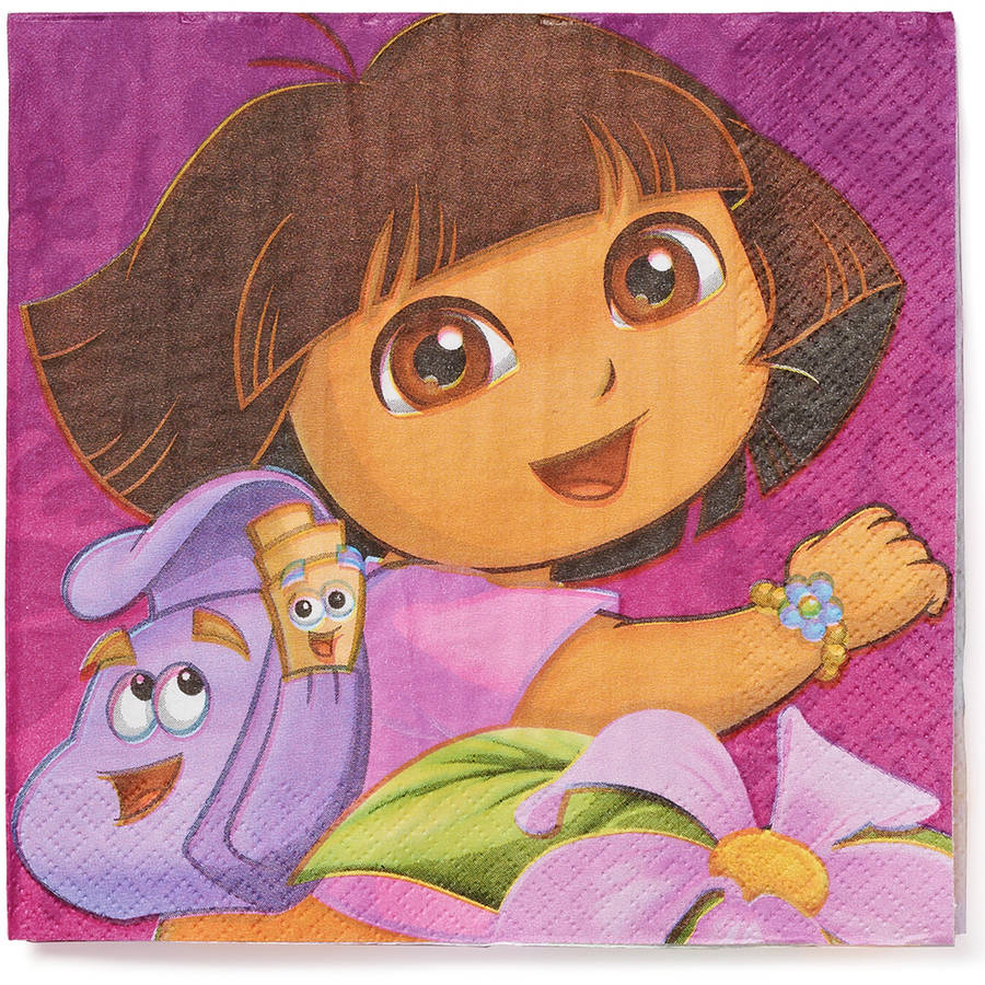 Dora the Explorer Party Paper Lunch Napkins, 16ct