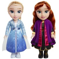 Disney Frozen 2 Princess Anna and Elsa Sister Interactive Feature Doll 2 pack - Walmart Exclusive