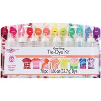 Tulip® 12 Color One-Step Tie-Dye Kit Kaleidoscope, Bright Colors, DIY Tie-Dye