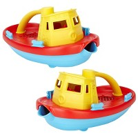 Green Toys Scoop and Pour Tug Boats  - Set of 2