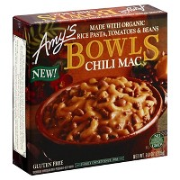 Amy's Gluten Free Frozen Chili Mac Bowl - 9oz