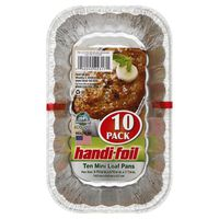 Handi-Foil Loaf Pans, Mini, 10 Pack