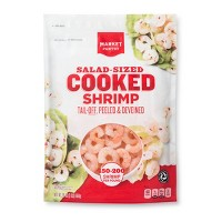 Cooked Tail-off Salad Shrimp - 150-200ct/16oz - Market Pantry™