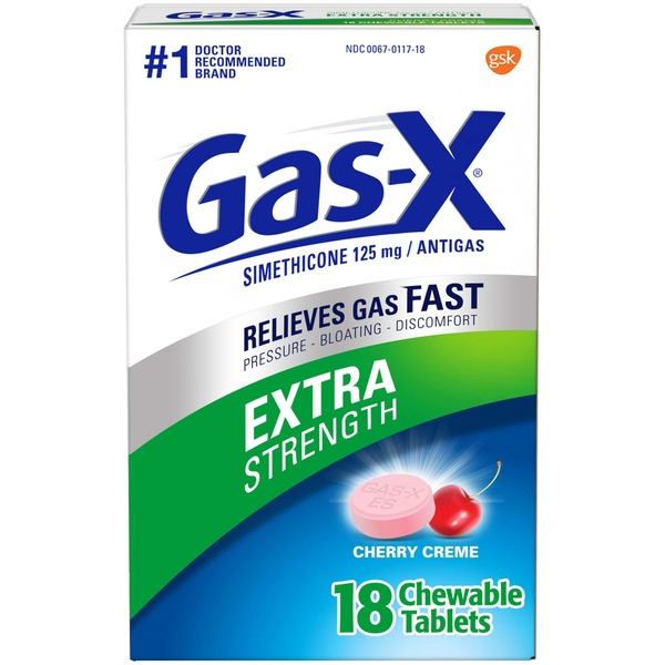 Gas-x Relieves Gas Fast Extra Strength Chewable Tablets