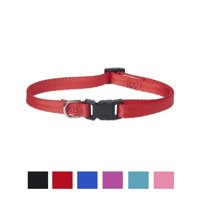 Vibrant Life Solid Nylon Dog Collar, Red, Small