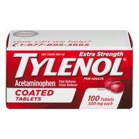 Tylenol Extra Strength Acetaminophen Coated Tablets
