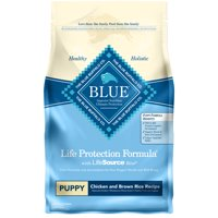 Blue Buffalo Life Protection Puppy Formula Chicken and Brown Rice Dry Dog Food, 30-lb