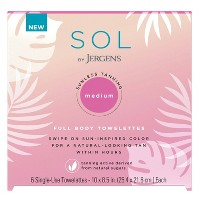 SOL By Jergens Medium Body Towlettes - 6ct
