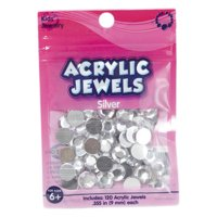 Kids Craft Acrylic 9 Millimeter Clear Stones, 1 Each