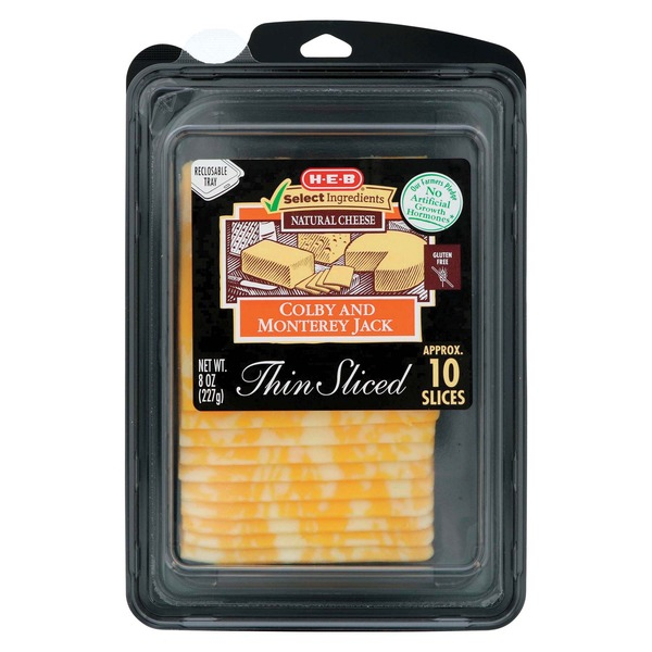 H-E-B Sliced Colby Jack Cheese
