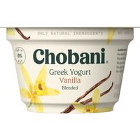 Chobani Yogurt, Greek, Non-Fat, Vanilla Blended