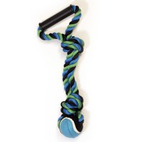 Pet Champion 2 Knot Medium Rope Ball Dog Toy with Handle