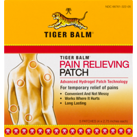 Tiger Balm Pain Relieving Patch, 1 Pk, 5 Ct