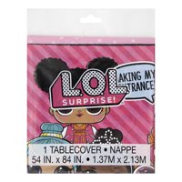 LOL Surprise Plastic Tablecloth, 84 x 54 in, 1ct