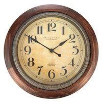 Better Homes & Gardens Rustic Wood Finish Wall Clock