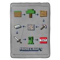 Minecraft Icon Adventure Blanket