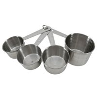 Mainstays measuring cup, stainless steel, set of 4