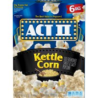 Act II Kettle Corn Microwave Popcorn 2.75 Oz 6 Ct
