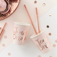 """""""Team Bride""""Party Cups Gold"""