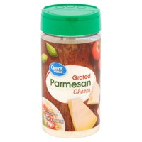 Great Value Grated Parmesan Cheese, 8 oz