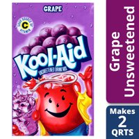 Kool-Aid Unsweetened Grape Powdered Drink Mix, Caffeine Free, 0.14 oz Pouch