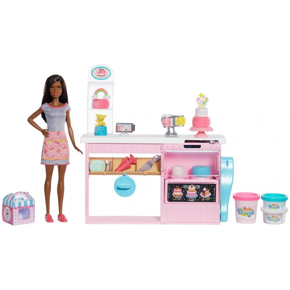 Barbie Cake Decorating Playset with Brunette Baker Doll