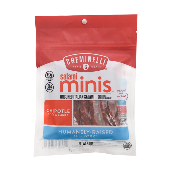 Creminelli Chipotle Spicy & Smoky Salami Minis, 2.6 oz