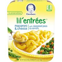 Gerber Toddler Macaroni & Cheese and a Side of Seasoned Peas & Carrots