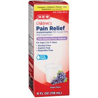 H-E-B Grape Flavor Children's Pain Reliever & Fever Reducer