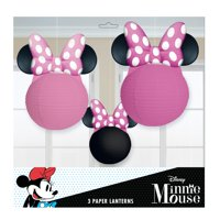 Minnie Mouse Round Paper Lanterns, 3ct