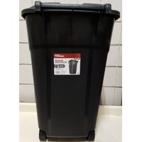 Hyper Tough 32 Gal Trash Can (Black) - TI0060 - Wheeled