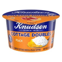 Knudsen Peach Cottage Cheese Doubles - 4.7oz