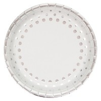 "Sparkle and Shine Silver 10"" Banquet Plates - 8ct"