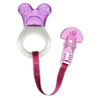 MAM Mini-Cooler Teether with Clip - Pink