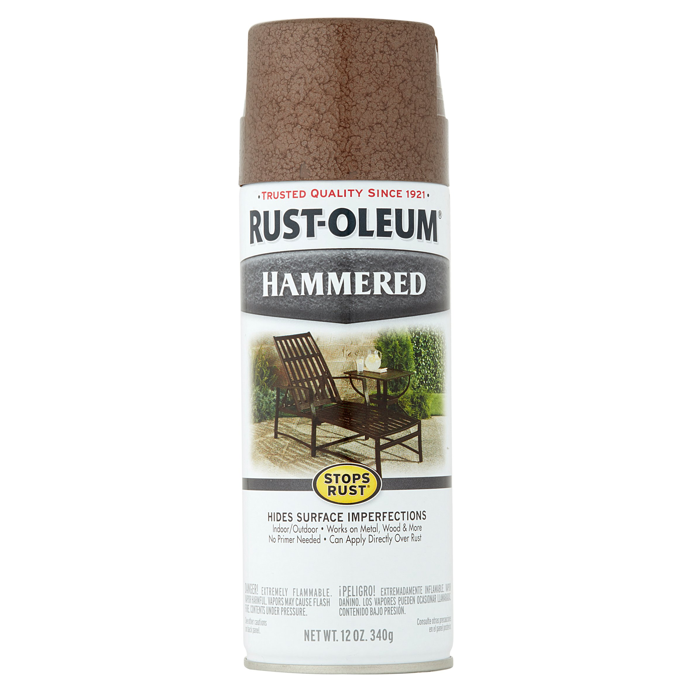 (3 Pack) Rust-Oleum® Stops Rust® Hammered Brown Spray Paint 12 oz. Can