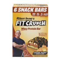 Robert Irvine's Fit Crunch Caramel Peanut Whey Protein Bar, 9.73 Oz., 6 Count