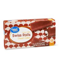 Great Value Swiss Rolls Snack Cakes, 13 oz, 6 Count